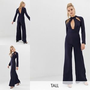 Missguided/ Black Keyhole Long sleeve Jumpsuit